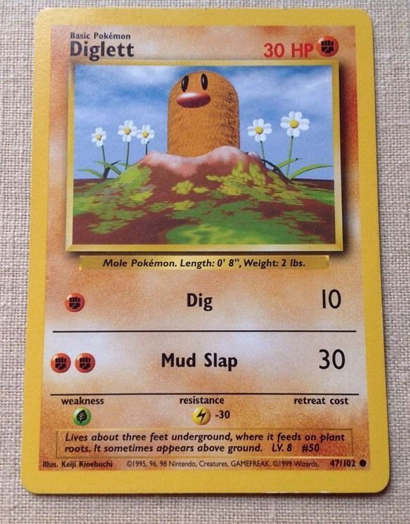 Pokemon Card - DIGLETT