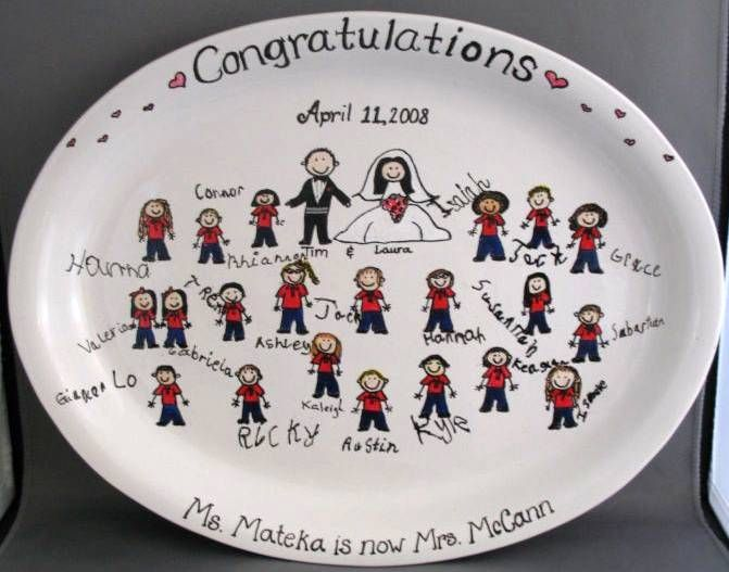 Wedding / Anniversary teacher getting married plate - physhdysh.com