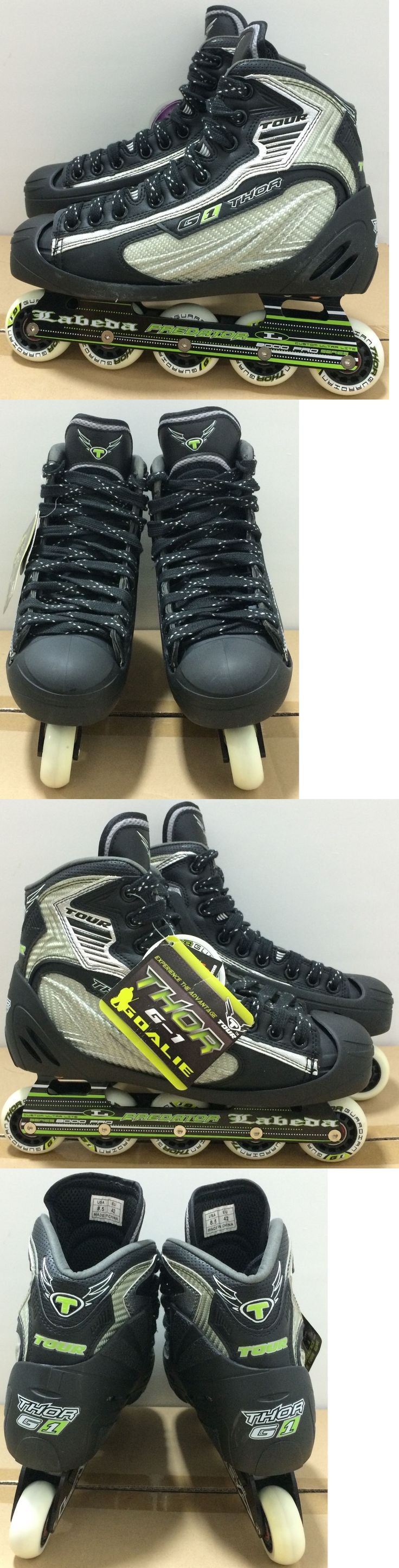 Ice Hockey-Adult 20858: Tour Hockey Thor G-1 Senior Roller Hockey Goalie Skates All Sizes 6001 - His -> BUY IT NOW ONLY: $170 on eBay!