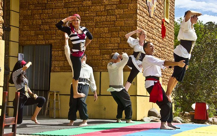 FEAT Acrobatics 7- Person Group Acrobalance outdoor stage show