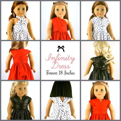 """Infinity Dress 18"""" Doll Clothes"""