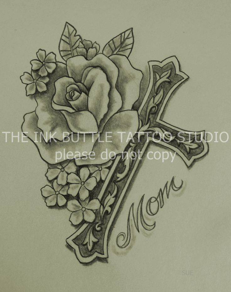 cross, rose, tattoo, Suzanne Buttle, Wakaw, Saskatchewan
