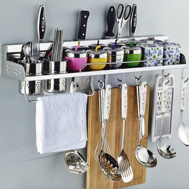 SUS 304 de Acero Inoxidable estante de la cocina, Estante de la cocina, Utensilio para cocinar Herramientas Hook Rack, Titular de la cocina y Almacenamiento envío gratis