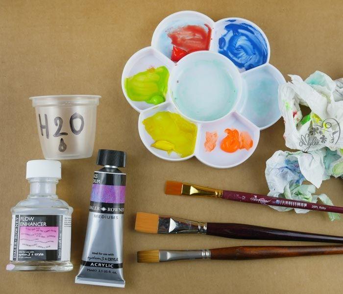 Comment Reconnaitre Une Peinture Glycero Ou Acrylique #6: Le Glacis à La Peinture Acrylique Par @amyleeparis