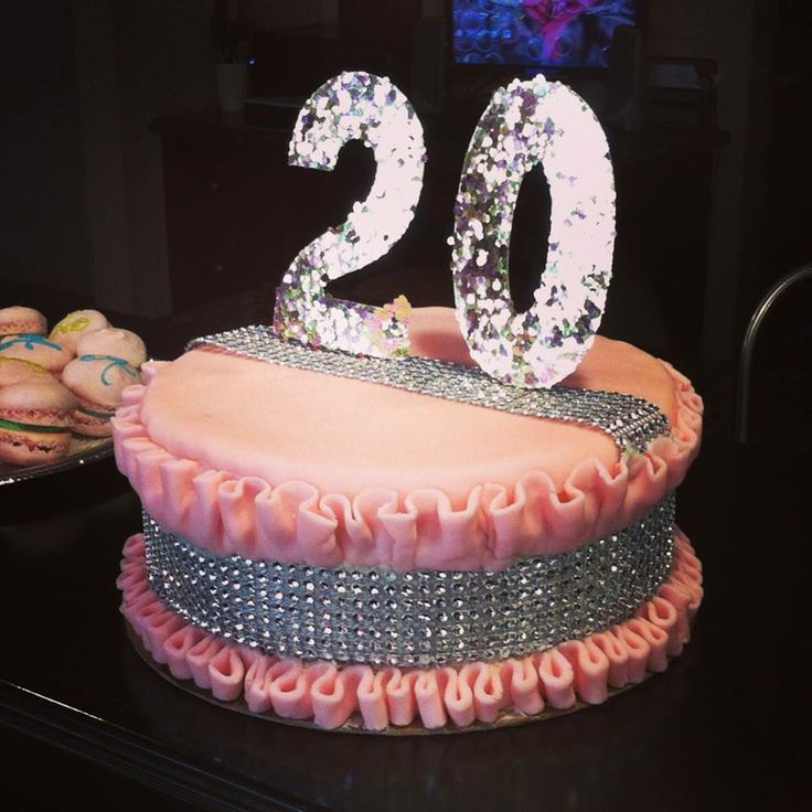 20th birthday cake for girls