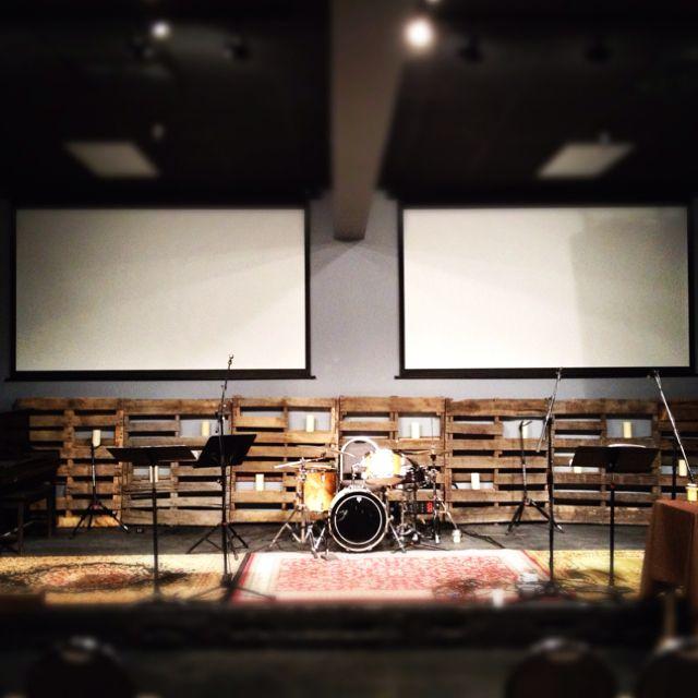 #stage ;Church stage design - pallets