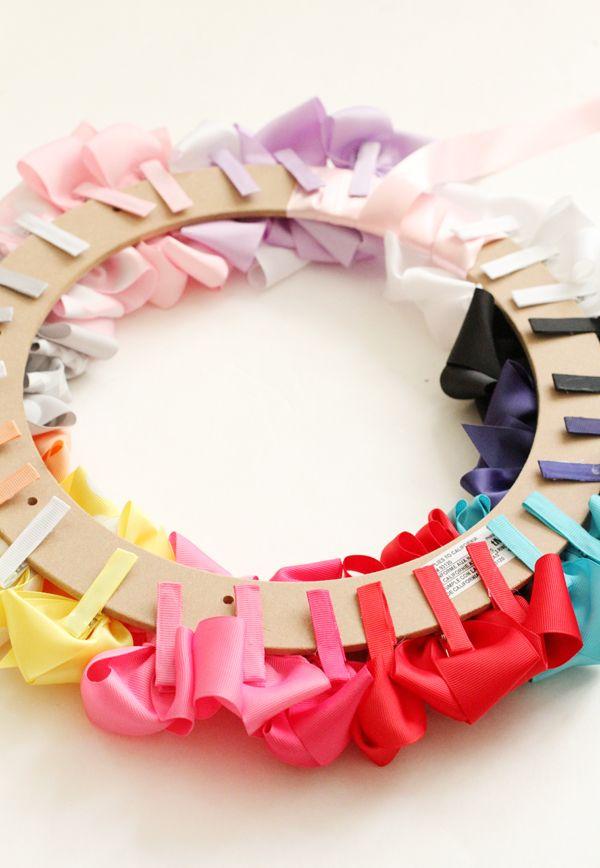 #DIY Bow Wreath... fun and inexpensive #babyshower gift. www.styleyoursenses.com