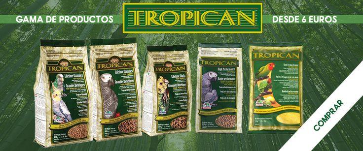 Gama de productos #Tropican para #Pájaros desde 6 euros en tu #tienda online para #mascotas #FaunAnimal