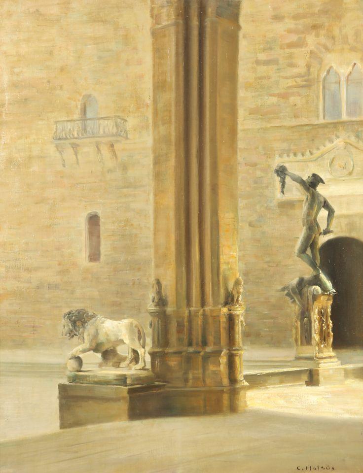 Carl Vilhelm Holsoe: View Of Florence
