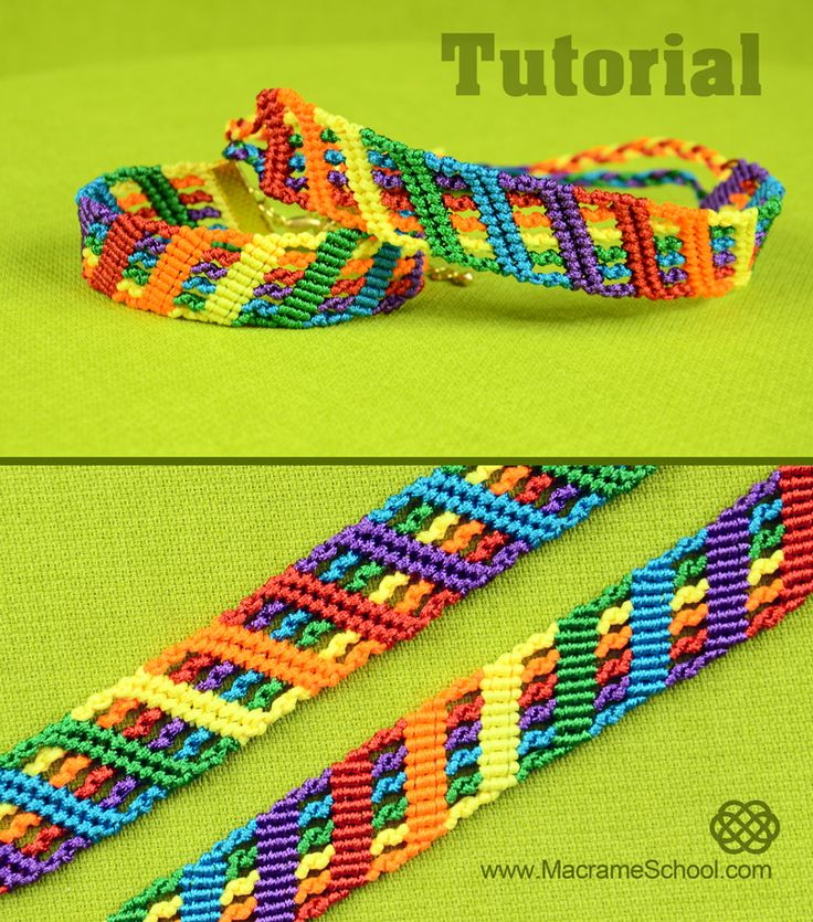Colorful Rainbow Bracelet Tutorial #Rainbow #Bracelet #Tutorial
