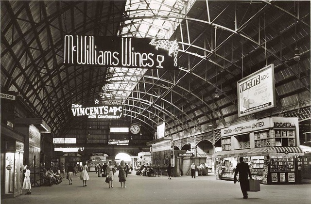 Central Railway Sydney. Australia 1950s by rangertocpt, via Flickr