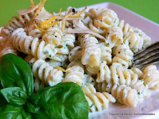 Kleiner Kuriositätenladen: Fusilli mit Ricotta und Zitrone