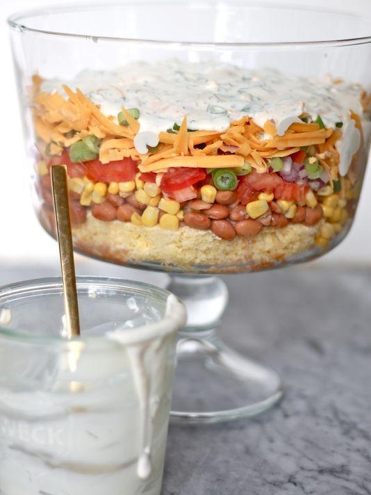 Layered Cornbread Salad