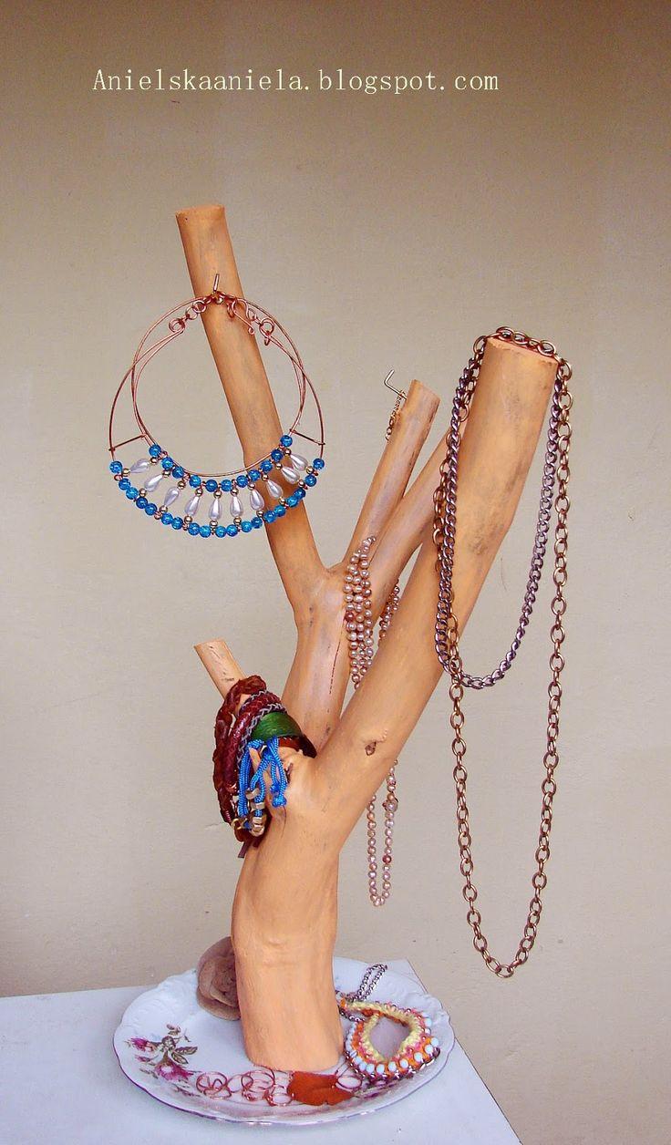 diy jewellery hanger wieszak na biżuterię diy