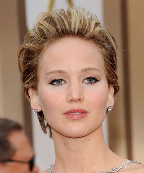 Jennifer Lawrence kurze glatte Haare - Mittel Brünette (Kastanie) - http://www.promifrisuren.com/promi/jennifer-lawrence-kurze-glatte-haare-mittel-brunette-kastanie/