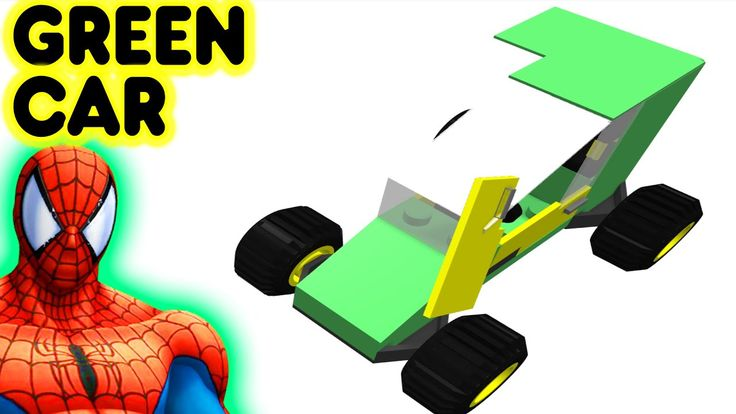 Toy Lego Green Car With Spiderman Superhero Video For Kids And Children #toycar #legocar