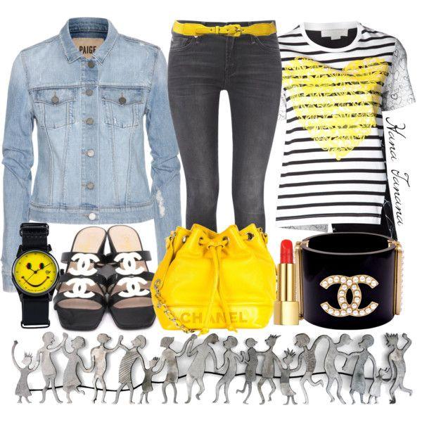"""Just Sets: Bringing sunshine wherever I go (yellow Chanel bag)."" by hana-tanana on Polyvore"