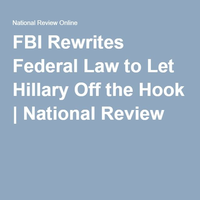In order to give Mrs. Clinton a pass, the FBI rewrote the statute, inserting an element that Congress did not require—INTENT to do harm. The added element is nonsensical: THE POINT OF HAVING A STATUTE THAT CRIMINALIZES GROSS NEGLIGENCE IS TO underscore that govt officials have a special obligation to safeguard national defense secrets; when they fail to carry out that obligation due to gross negligence, they are guilty of serious wrongdoing. The lack of intent to harm our country is…