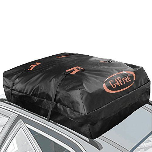G4Free 18.5 Cubic Feet Waterproof Car Top Carrier, Easy To Install Soft Roof  Top Luggage