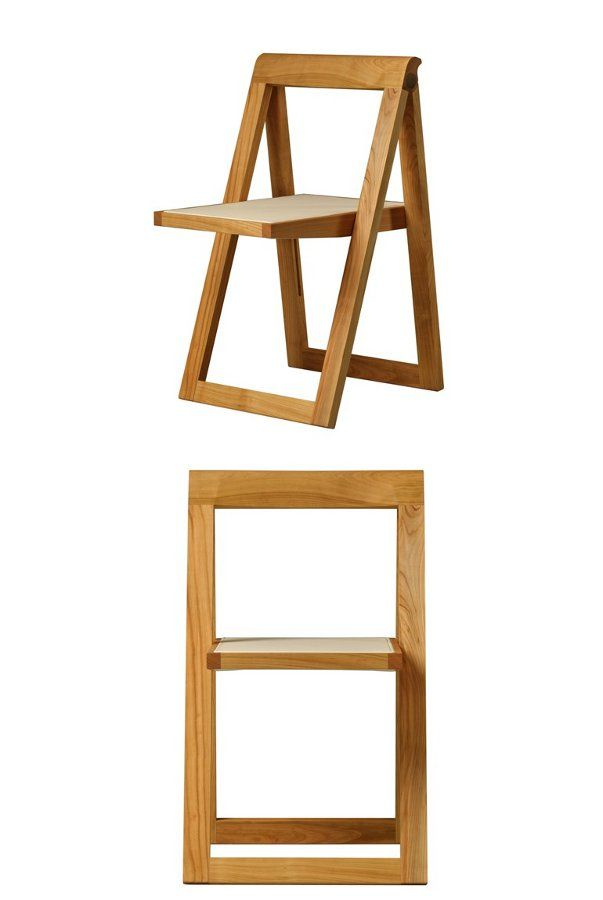 Folding cherry wood #chair CIAK by Morelato | #design Centro Ricerche MAAM