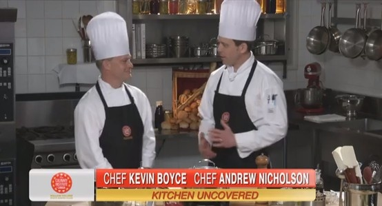 Steamed mussels w Spanish style cream sauce and pesto crostini with chefs Kevin Boyce & Andrew Nicholson: https://www.youtube.com/watch?feature=player_embedded=44pDWP3BoyI#!