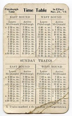MudBay Images: 1915 Railroad Time Table Ephemera