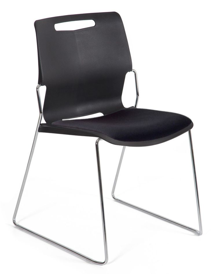 Castel Stacking Chair with Upholstered Seat  #Chairs