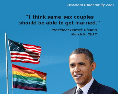 I know some people will be mad that I support gay marriage, but I don't care. Good for Obama.