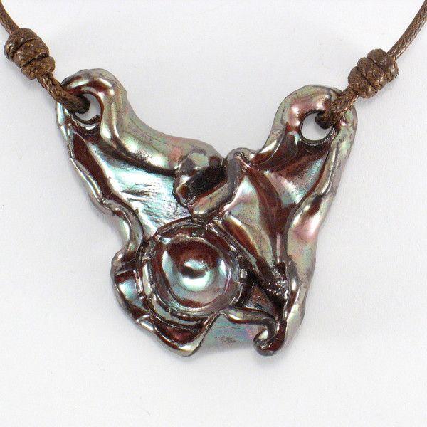 Ceramic Neckalces – Ceramic necklace. – a unique product by Zielonepalce on DaWanda