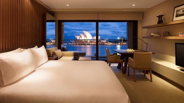 Sydney Opera House, as seen from the Park Hyatt Sydney #hotelinteriordesigns