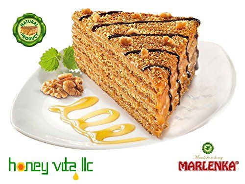 Great Six Layer Anniversary Birthday Cake - MARLENKA ®- Classic Honey Cake, ,