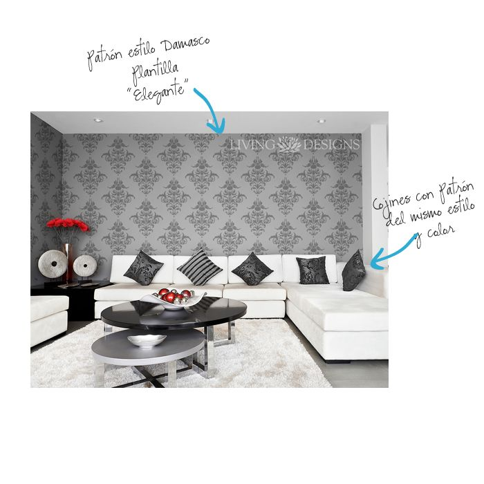 M s de 25 ideas fant sticas sobre patrones de papel tapiz - Plantillas para paredes ...