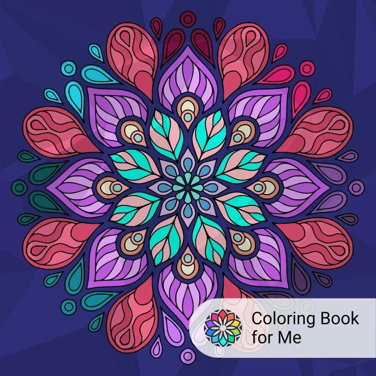 mandalas hechos desde coloring book for me. ¡pruebala!