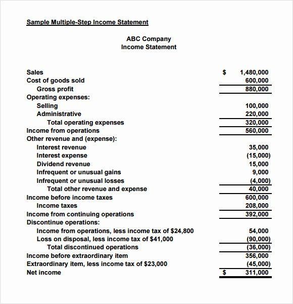 50 Unique Small Business Income Statement Template In 2020
