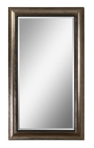 "Uttermost 14204 Jamari Mirror in Antiqued Silver Leaf, [Kitchen] MPN: 14204 by Uttermost. $397.50. Glass depth: 0.187. Glass height: 60. Mirror has a generous 1 1/4"" bevel.. The wood frame has a textured surface finished in antiqued silver leaf with burnished details and a rustic black liner.. Glass width: 30. The wood frame features a textured surface finished in antiqued silver leaf with burnished details and a rustic black liner. Mirror features a generous 1..."