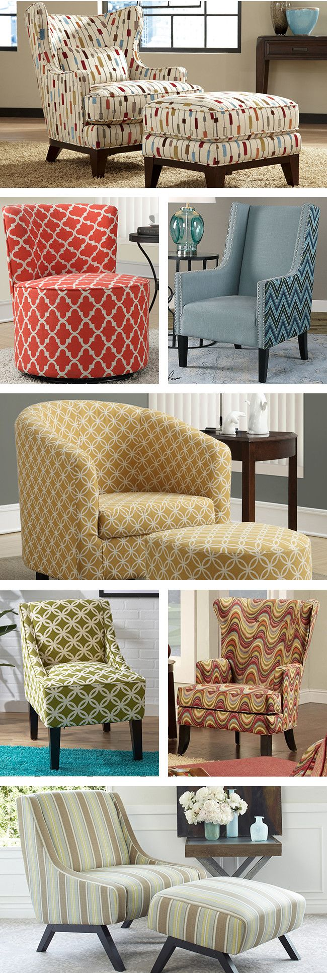 Accents chairs are a perfect way to express your personal style. Pair matching swoop arm styles with an elegant end table in your living room to create an instant seating group. Visit Wayfair and sign up today to get access to exclusive deals everyday up to 70% off. Free shipping on all orders over $49.