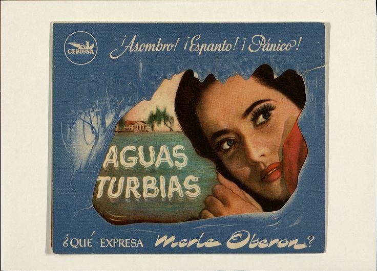 1. Aguas turbias. Dirigida por André de Toth. Barcelona: I. G. Viladot, [1944].   #ProgramasdeMano #BbtkULL #Troquelados #DiadelLibro2014