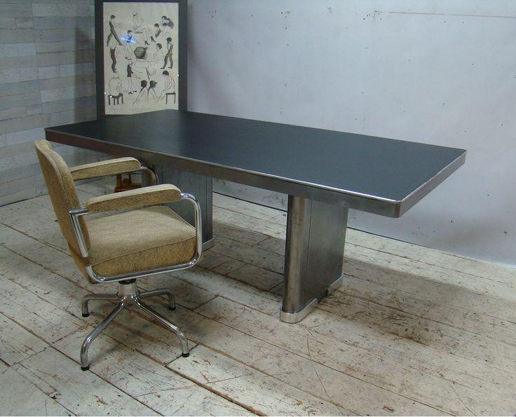 Ahrend Oda - Art Deco-industriel-stripped-polished-table-tafel 009
