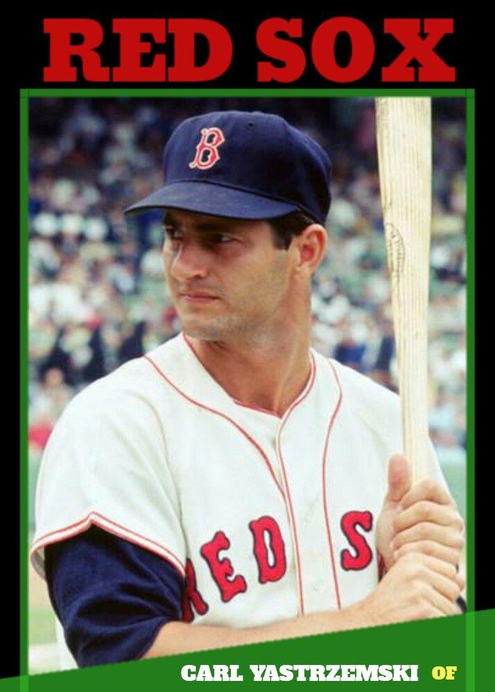 Baseball Custom Card Carl Yastrzemski Red Sox Baseball Baseball T Shirt Designs Baseball Classic
