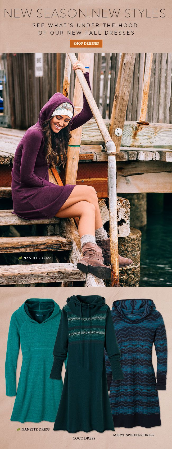 Our new 'Fall Dresses' may be your go-to favorites. Find yours now. #fashion #style #comfort