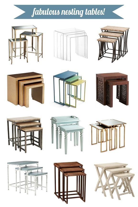 Nesting tables from Lamps Plus from @Centsational Blog Blog Blog Girl on @Gayle Robertson Robertson Roberts Merry Homes and Gardens #homedecor #furniture #nestingtables