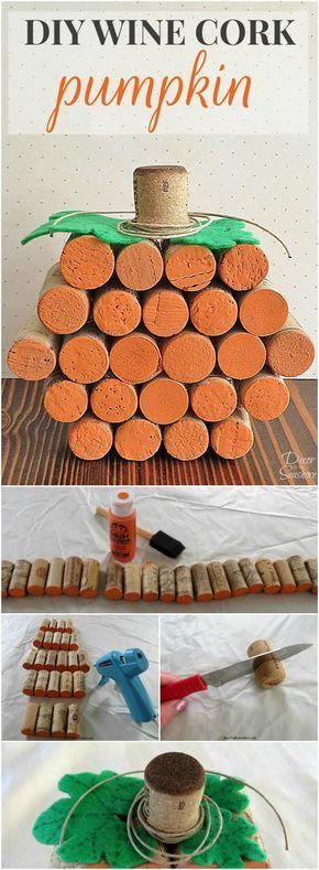 DIY Wine Cork Pumpkin Tutorial