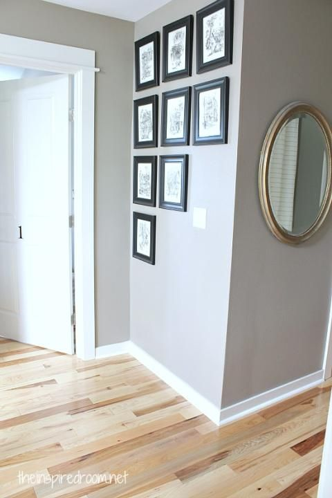 hickory hardwood flooring and staircase makeover - Helle Hickory Holzbden