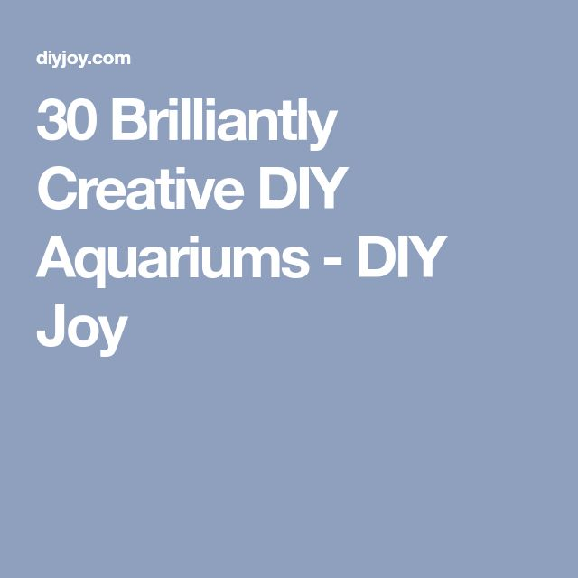30 Brilliantly Creative DIY Aquariums - DIY Joy