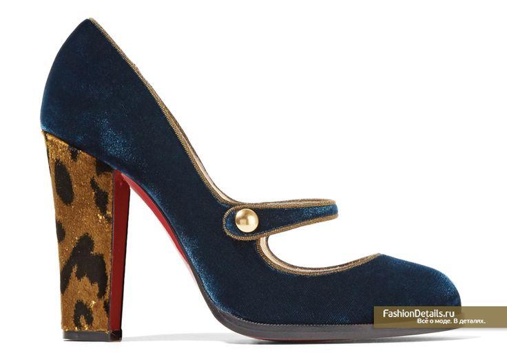 комбинированные туфли из бархата CHRISTIAN LOUBOUTIN
