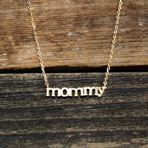 Dainty Gold Mommy Necklace – Royal Bowtique