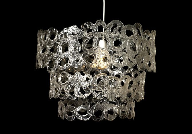 Shot Glass Chandelier Made From Recycled Plastic Shot
