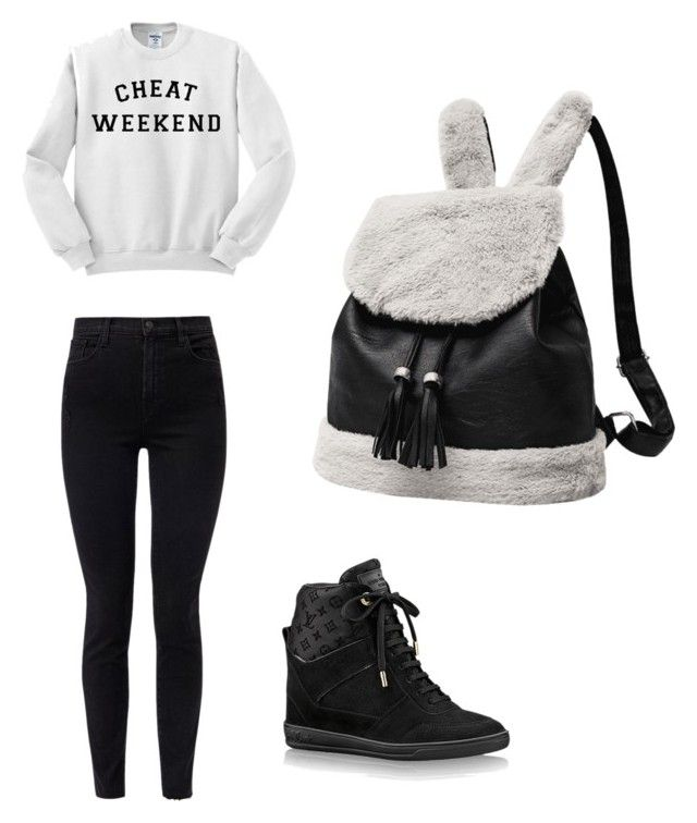 """My look"" by natalya-odintsova on Polyvore featuring мода, J Brand и Louis Vuitton"