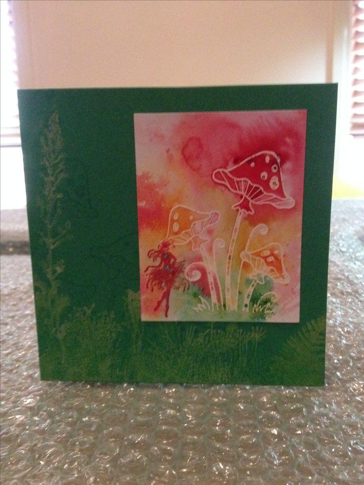 Brusho Fairy & Mushrooms