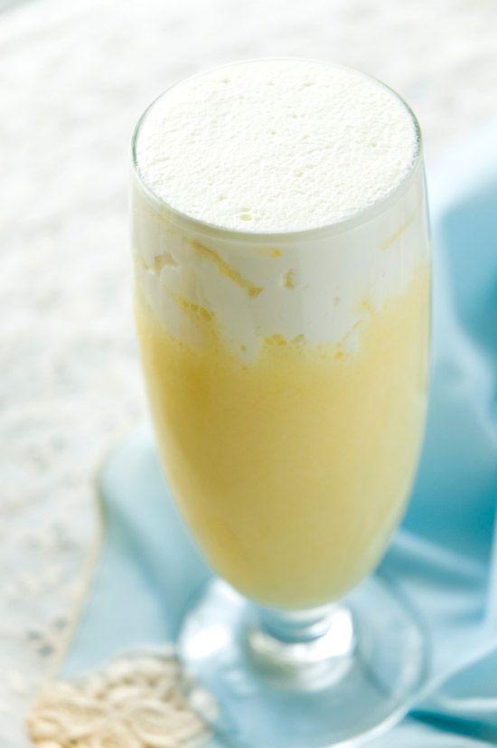 Banana Cream Rumshake Recipe ~ white rum, creme de banane, Jell-O instant banana pudding mix, vanilla ice cream